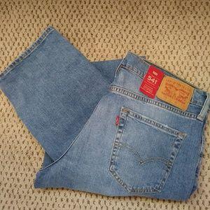 Levi's Men's 541 Athletic Fit Blue Jeans 35x36